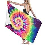 Toalla de baño Tie Dye Rainbow Peace Toallas Suaves absorbentes de Secado rápido para Viajes Deportivos Baño de...