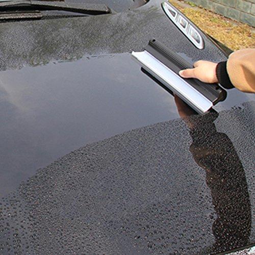 iTimo Auto-Wasser-Abzieher, Silikon, 26,5 cm Länge, für Windschutzscheibe / Fenster / Scheibenwischer, Schneekratzer-Funktion