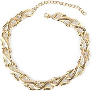 Chunky Gold Chain Collar Choker Necklace by Choker Land | Bold Thick Sturdy Trendy Punk Gold Jumbo Cuban Links