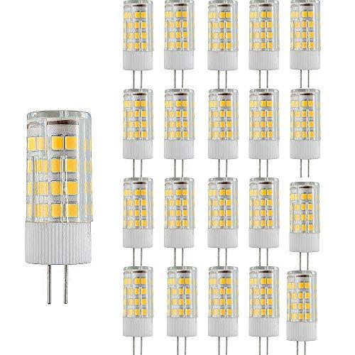 20 Paquetes Bombillas LED G4 Lampe de Maíz que Ahorra Energía 3000k Lámpara LED No Regulable,3W(Equivalente a 30W Halógena)Bombilla de Iluminación LED Blanca Cálida con Ángulo de haz de 360 °
