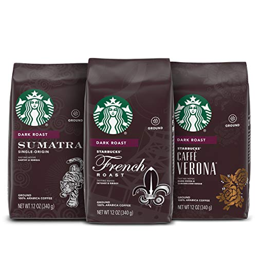 Starbucks Dark Roast Ground Coffee — Variety Pack — 3 bags (12 oz. each)
