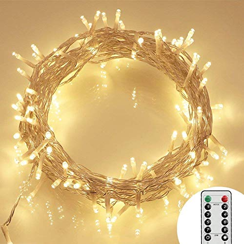 [Remote and Timer] 100 LED Outdoor Battery Fairy Lights...