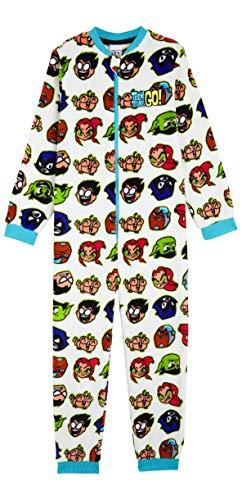 Teen Titans Schlafoverall Kinder, Onesie Jumpsuit Kinder 4-14 Jahre, Schlafanzug Jungen Einteiler, Fleece Kuschelanzug Kinder, Geschenke für Kinder (Mehrfarbig, 5-6 Jahre)