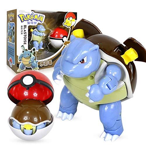 Pokemon Toy Figur Pikachu Charizard Gyarados Blastoise, Taschenelfenball Manuelle Verformung Roboter Elf Baby Set Film & Tv-Modell