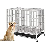nonbrand Heavy Duty Stainless Steel pet Crate 43inch