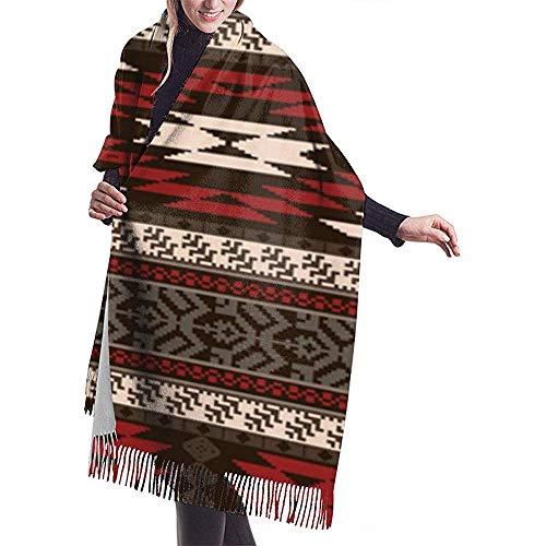 Cathycathy etnische traditionele Indiaanse kunst textiel naadloos patroon sjaal wrap warme sjaal cape grote sjaal