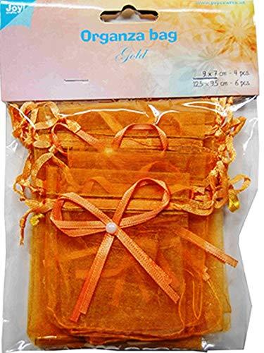 Joy.crafts–Organza Bag Set 6300/0044Color Oscuro Oro (Gold)