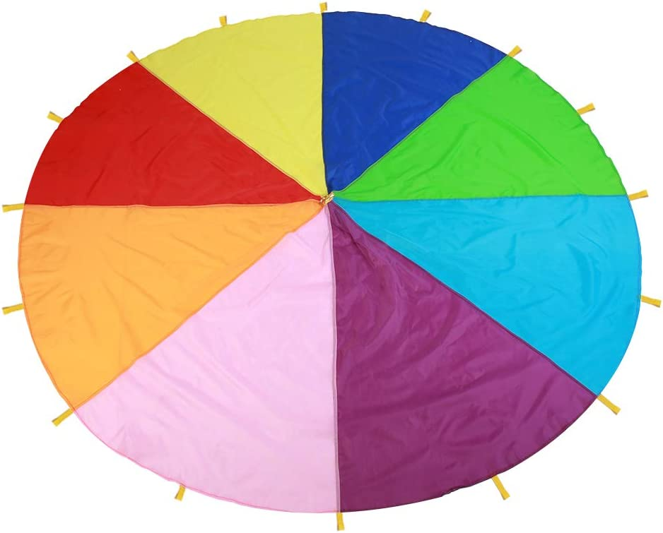 BORDSTRACT Cheap mail order shopping Rainbows Parachute Outdoor Kids Play Limited time sale Game