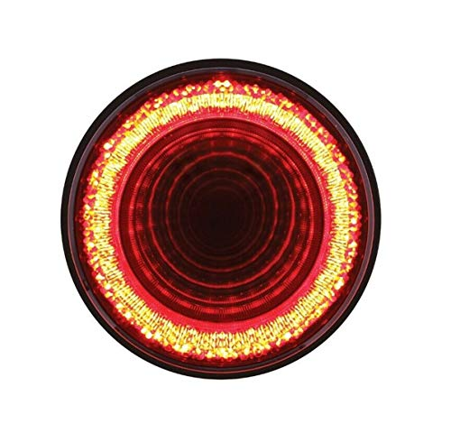 United Pacific 24 LED 4' Round Mirage Stop, Turn & Tail Light - Red LED/Red Lens