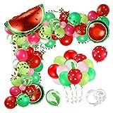 zhenxin Globos 107pcs Sandía Partido Globos Guirnalda Arco Set Sandmelon Foil Balloons Vine para Cumpleaños Decoración de la Fiesta de Verano (Color : Z28139)