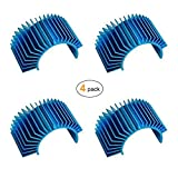 JMAF (4-Pack) Aluminum Electric Engine Motor Heatsink Fins Cooling for RC 540 550 Size Brushed Brushless RC...