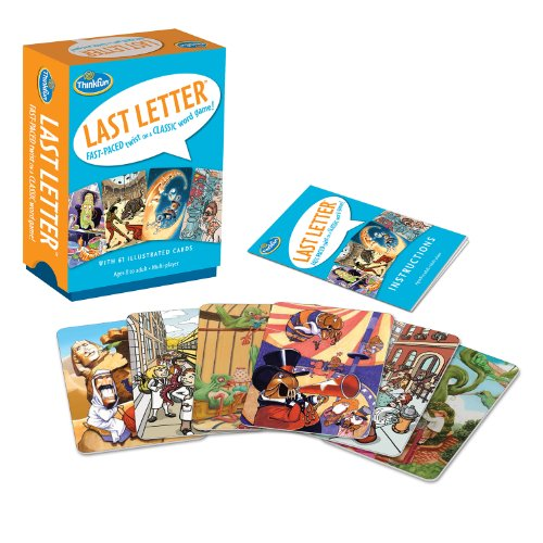 Think Fun Last Letter Card Game $6 + Free Shipping w/ Amazon Prime or Orders $25+