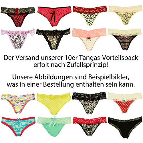 Libella 10er Pack String Tanga Damen Sexy Unterwäsche mit Spitze 3210NEU 10er Pack L/XL