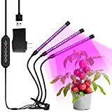 Bawoo 30W LED Grow Light, 60 LEDs Plant lamp with 3 Adjustable Gooseneck Heads Full Spectrum Auto On/Off Growing Bulb with 3 Timers for Indoor Plants