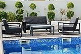 OUTFLEXX 2-Sitzer Sofa, sooty, Sunbrella/Alu, Gartenlounge