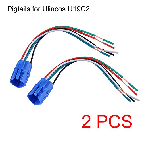 Ulincos NOT FIT U19D1, 19mm Pigtail, Wire Connector, Socket Plug for U19C1, U19C2 Push Button Switch