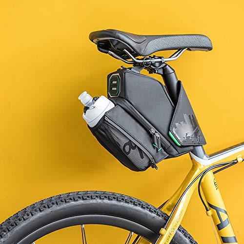 woyada Bolsa de asiento de bicicleta innovadora todo en uno bolsa trasera bolsa de asiento de bicicleta fuerte cinta Adhensive duradera e impermeable fácil de desmontar para bicicleta