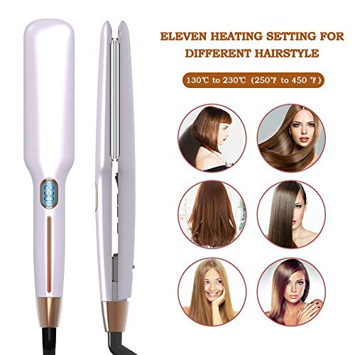 New Extra Wide Plate Hair Straighteners for Longer Thicker Hair, Digital Temperature Contro,110v