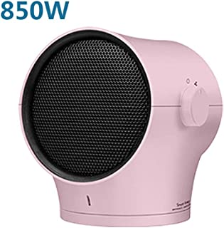 Calefactor eléctrico 850W Calefactor Eléctrico Silencioso Casa Mini Rosado Calentador Temperatura De Control De 3 Velocidades Calentamiento Rápido 60 Grados Sacude Tu Cabeza De Izquierda A Derecha GYF