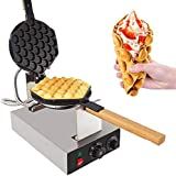 GorillaRock Bubble Waffle Maker Electric Non Stick Egg waffle machine 360 Rotated Stainless steel (110V)