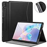 Ztotop Case for Samsung Galaxy Tab S6 10.5 Inch Tablet 2019 - PU Leather Folding Stand Smart Cover for SM-T860/T865 with Auto Sleep/Wake,Pen Holder and Multiple Viewing Angles.Black