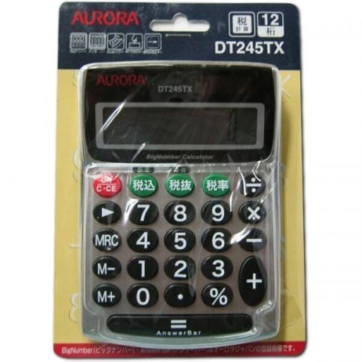 半径アーカイブしがみつくオーロラジャパン 小型卓上電卓 税計算機能付き アンサーバー DT245TX