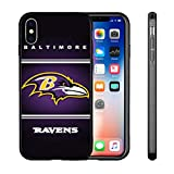 Ravens iPhone X Xs Case iPhone X Ravens Design Case TPU Gel Rubber Shockproof Anti-Scratch Cover Shell for iPhone Xs/iPhone X 5.8-inch