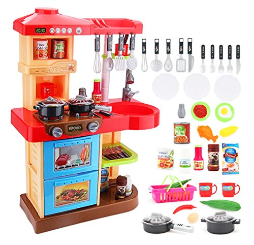 deAO Cocinita de Juguete Mi Little Chef con 30 Accesorios Incluidos, Color...
