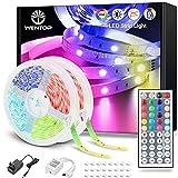 WenTop Tiras LED 20M, Luces LED Habitación 20 Metros, Tira LED RGB Color con Control Remoto, Para Decoración de TV, Techo,...