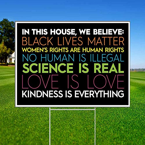 """Debbie's Designsin in This House Yard Sign 
