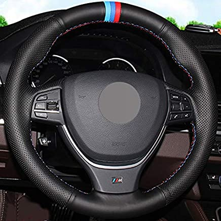 ZYTB Couverture de Volant Confortable antid/érapante pour Voiture Noire Cousue /à la Main pour BMW 315i 325I E39 E53 X5