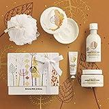 The Body Shop - Set de regalo de leche y miel para ducha esencial y con suavización, edición limitada.