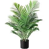 Fopamtri Plantas Artificiales Decorativas Palma de Areca Hawaiian Tropic Palmera Artificial Altura 90cm para Hogar Baño Oficina Jardín Boda Planta Falsa Decoración(1PACK)