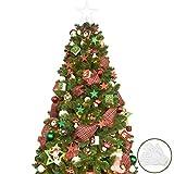 KI Store 6ft Artificial Christmas Tree with Ornaments and Lights Christmas Cheer Christmas...