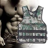 Jiawu Verschleißfeste Trainingsweste, verstellbare Gewichtsweste, 20 kg mit Klettverschluss 600D...