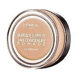 L'Oréal Paris Infaillible 24H Correttore Viso in Crema a Lunga Tenuta, 02 Medium