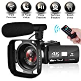 """Camcorder Video Camera 4K Ultra HD WIFI Camcorder Camera 3.0"""" Touch Screen Night"""