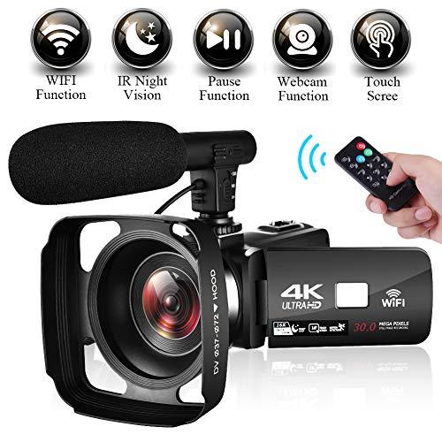 Videocamera Telecamera Digitale Full HD 1080P 30FPS 24.0MP 18X Zoom Digitale Videocamere con Schermo da 3 Pollici Schermo da 270° di Rotazione