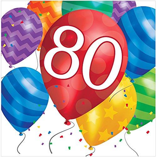 Creative Converting 16 Count Happy Retirement Ballon Blast Lunchservetten 60 uur bday.