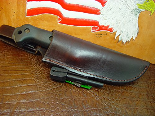 Bk 2 And BK 10 Dangler This sheath will fit both knives Sheath with Firestarter and Striker