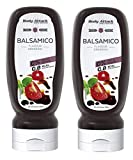 Body Attack Salatdressing - Vegan und Low Carb, 2er Pack (2x 320ml) (Balsamico)