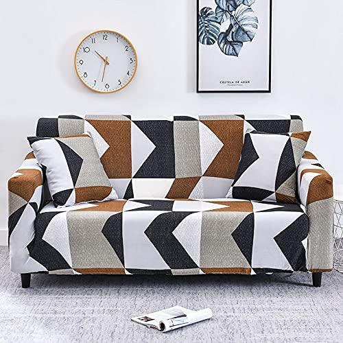 MKQB Funda de sofá a Rayas, Funda de sofá elástica elástica, Funda de sofá Antideslizante para Muebles de Sala, Funda de sofá de protección para Mascotas n. ° 1 M (145-185cm