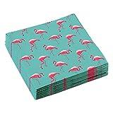 amscan 10119935 9903328 - Servietten Flamingo Paradise, 20 Stück, 33 x 33 cm, Partygeschirr, Tischdekoration