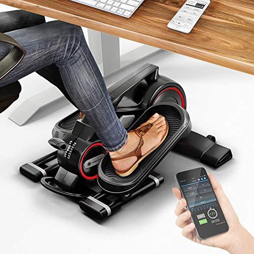 Sportstech Exercice sous Tous Les Bureaux Mini-vélo elliptique de sous Bureau avec Application, vélo elliptique DFX100 pour la santé et Le Fitness au Quotidien, à la Maison et au Bureau