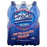 BrioBlu Acqua Minerale Naturale Leggermente Frizzante - Rocchetta, 6 x 1.5L