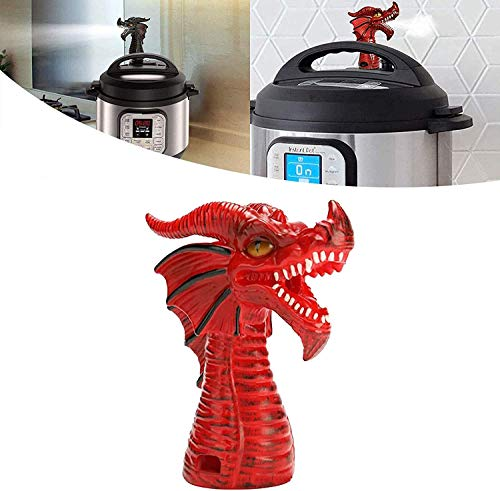 MKSENSE Fire-Breathing Dragon Original Steam Release Accessory Steam Diverter for Pot Pressure Cooker Kitchen Supplies (1 pcs Red)