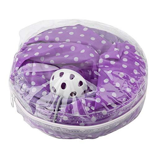 Fockety Oxford Cloth Cat Tunnel Leopard, Katzenspielzeug, Interaktives Klappbett für Pet Purple Hide Tunnel Cat