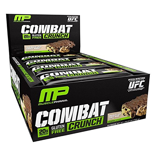 Muscle Pharm Mezcla de Proteínas y Aminoácidos Combat Crunch, Choco Chip Cookie Dough, 12 Bar