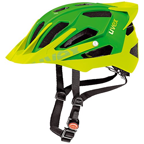 Uvex Quatro Pro MTB Casco de Ciclismo, Hombre, Verde/Limón Mate, 56-61 cm