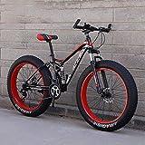 Adulto Fat Tire Bicicletas de montaña, la Playa de Moto de Nieve, de Peso Ligero de Alta de Acero al Carbono Bastidor de la Bicicleta, 26 Pulgadas Ruedas,C,7 Speed
